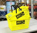 ムーンアイズ 収納 かご バスケット おしゃれ プラスチック 買い物かご マーケットバスケット MOONEYES アメリカ アメリカン雑貨 イエロー サイズS ...
