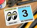 ムーンアイズ ステッカー カー用品 車検ステッカー パロディ アメリカ ハワイ ナンバープレート MOONEYES レジストレーションステッカー 3月 【メール便OK】_SC-DM212-03-MON