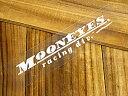 ムーンアイズ ステッカー 車 アメリカン おしゃれ バイク ヘルメット かっこいい カーステッカー アメ車 ホットロッド MOONEYES 転写式 レーシングディビジョン 【メール便OK】_SC-DM126WH-MON
