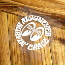 ショッピングヘルメット ムーンアイズ ステッカー 車 アメリカン おしゃれ バイク ヘルメット かっこいい カーステッカー アメ車 ホットロッド MOONEYES 転写式 サーフクレイズ ホワイト 【メール便OK】_SC-DM138WH-MON