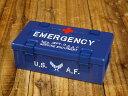 ミリタリー 小物入れ 収納 アンモボックス 救急箱 エマージェンシーケース US AIR FORCE アメリカ空軍 ネイビー_SR-025-FEE