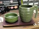 ミリタリー マグカップ セット 灰皿 トレイ 面白い アウトドア キャンプ アメリカ アメリカン雑貨_TW-025-HYS