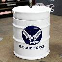ミリタリー 灰皿 おしゃれ 陶器製 面白い ドラム缶 US AIR FORCE アメリカ空軍 アメリカ アメリカン雑貨_TW-026-HYS