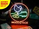 ショッピングギター ネオンサイン ネオン 看板 電飾看板 ライト インテリア アメリカン 店舗 ショップ ギター ロック バー クラブ WOOD STOCK_NS-017-SHO