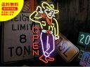ショッピングレストラン ネオンサイン ネオン 看板 電飾看板 ライト インテリア アメリカン 店舗 ショップ アパレル レストラン COW BOY OPEN_NS-043-SHO