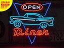ショッピングレストラン ネオンサイン ネオン 看板 電飾看板 ライト インテリア アメリカン 店舗 ショップ アメ車 レストラン ダイナー DINER OPEN_NS-046-SHO