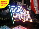 ショッピング照明 ネオンサイン ネオン 看板 電飾看板 ライト インテリア アメリカン 店舗 ショップ アメリカ国旗 アパレル USA FLAG_NS-101-SHO