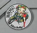 ベティ・ブープ ワッペン アイロン キャラクター セクシー アメカジ アメリカン ワークシャツ ジャケット アメリカン雑貨 BETTY BOOP バイク 【メール便OK】_WP-7479-SHO