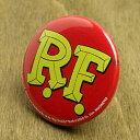 ラットフィンク 缶バッチ キャラクター アメリカ ホットロッド RAT FINK ロゴ 【メール便O