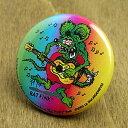 ショッピングギター ラットフィンク 缶バッチ キャラクター アメリカ ホットロッド RAT FINK ギター 【メール便OK】_BC-RAF107GU-MON