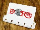 ショッピング物置 ラットフィンク キーフック 壁掛け ミニキーフックボード RAT FINK アメリカ アメリカン雑貨 【メール便OK】_KH-RAF385-MON