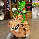 ショッピング貯金箱 ラットフィンク フィギュア 貯金箱 キャラクター モンスター ホットロッド RAT FINK アメリカ 雑貨 アメリカン雑貨 RIDING HOG_FG-RAF436-MON