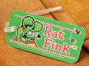 ショッピングキャリーバッグ ラットフィンク ネームタグ スーツケース ストラップ ラゲージタグ Rat Fink アメリカ アメリカン雑貨 Face グリーン 【メール便OK】_KH-RAF450GR-MON