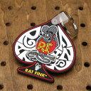 ショッピング ラットフィンク(Rat Fink) ラバーキーホルダー スペード グレー_KH-RKF043GY-MON
