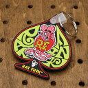 ショッピング ラットフィンク(Rat Fink) ラバーキーホルダー スペード ピンク_KH-RKF043PK-MON