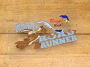 ロードランナー ステッカー ルーニー・テューンズ コヨーテ 車 アメリカン キャラクター おしゃれ バイク ヘルメット かっこいい 鳥 ホットロッド アメ車 カーステッカー Q 【メール便OK】_SC-790670-FEE(05P03Dec16)
