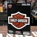 ステッカー バイク ハーレーダビッドソン アメリカン おしゃれ 車 ヘルメット かっこいい カーステッカー バー&シールドエンブレム STICK ONZ 【メール便OK】_SC-DA8657-MON