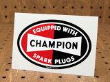 ステッカー(シール、デカール) チャンピオン(CHAMPION) スパークプラグブランド オーバル(05P01Mar15)_SC-DZ068-MON
