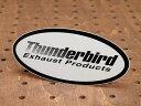 ショッピングUNDER ステッカー 車 アメリカン おしゃれ バイク ヘルメット かっこいい カーステッカー サンダーバード Thunderbird Exhaust Products 【メール便OK】_SC-R228-SXW