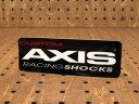 ショッピングShock ステッカー 車 アメリカン おしゃれ バイク ヘルメット かっこいい カーステッカー アクシス AXIS RACING SHOCKS 【メール便OK】_SC-R458-SXW