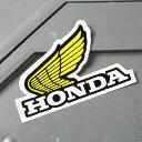 ショッピングホンダ ステッカー ホンダ 車 アメリカン おしゃれ バイク ヘルメット かっこいい カーステッカー HONDA ウイング イエロー 左向き 【メール便OK】_SC-361-GEN