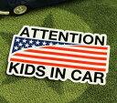 ショッピングDSi KIDS IN CAR ステッカー 車 子供 アメリカン 子供乗ってます おしゃれ かっこいい AMERICAN FLAG サイズM 【メール便OK】_SC-BIM14-LFS