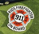 ショッピングDSi KIDS IN CAR ステッカー 車 子供 アメリカン 子供乗ってます おしゃれ かっこいい FIREFIGHTER サイズM 【メール便OK】_SC-BIM2-LFS