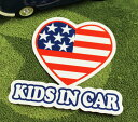ショッピングDSi KIDS IN CAR ステッカー 車 子供 アメリカン 子供乗ってます おしゃれ かっこいい HEART サイズM 【メール便OK】_SC-BIM6-LFS