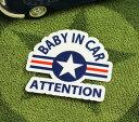 ショッピングFORCE BABY IN CAR ステッカー 車 赤ちゃん アメリカン 赤ちゃん乗ってます おしゃれ かっこいい US AIR FORCE サイズS 【メール便OK】_SC-BIS11-LFS