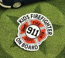 ショッピングDSi KIDS IN CAR ステッカー 車 子供 アメリカン 子供乗ってます おしゃれ かっこいい FIREFIGHTER サイズS 【メール便OK】_SC-BIS2-LFS