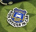ショッピングDSi KIDS IN CAR ステッカー 車 子供 アメリカン 子供乗ってます おしゃれ かっこいい POLICE OFFICER サイズS 【メール便OK】_SC-BIS4-LFS