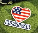 ショッピングDSi KIDS IN CAR ステッカー 車 子供 アメリカン 子供乗ってます おしゃれ かっこいい HEART サイズS 【メール便OK】_SC-BIS6-LFS