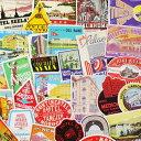 ショッピングugg ステッカー スーツケース アメリカン 旅行カバン トラベルステッカー ラゲージラベル レトロ Luggage Labels OLD HOTEL LABELS 50枚セット_SC-C176LB-DLT