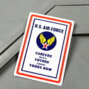 ショッピングエアフォース ステッカー アメリカ空軍 U.S.エアフォース 車 バイク アメリカン かっこいい カーステッカー ミリタリー 世田谷ベース CAREERS 【メール便OK】_SC-MS053-FEE