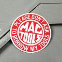 ステッカー マックツールズ MAC TOOLS バイク 車 アメリカン かっこいい カーステッカー 工具 ツール 【メール便OK】…