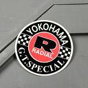 ステッカー ヨコハマタイヤ バイク 車 アメリカン かっこいい カーステッカー YOKOHAMA 【メール便OK】_SC-MS098-FEE