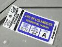 パーキングパーミットステッカー 車 アメリカン 駐車許可 パロディ カリフォルニア 裏貼り PARKING PERMIT STICKER ロサンゼルス市 【メール便OK】_SC-SPS004-HBT