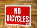 ショッピングPSP サインプレート 看板 標識 自転車禁止 アメリカ アメリカン雑貨 【メール便OK】_SP-HK20607-MON