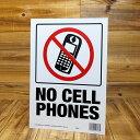 ショッピングPSP サインプレート 看板 標識 携帯電話 禁止 アメリカ アメリカン雑貨 【メール便OK】_SP-HK20618-MON