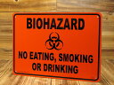 ショッピングPSP サインプレート 看板 サインボード 標識 バイオハザード BIOHAZARD 飲食、喫煙禁止 アメリカ アメリカン雑貨_SP-CA42-SHO