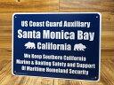 ショッピングPSP サインプレート 看板 サインボード 標識 カリフォルニア州サンタモニカ湾岸警備隊 アメリカ アメリカン雑貨_SP-CA40-SHO