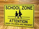 ショッピングPSP サインプレート 看板 サインボード 標識 スクールゾーン 通学路 アメリカ アメリカン雑貨_SP-CA41-SHO