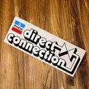 ステッカー 車 モパー アメリカン おしゃれ バイク ヘルメット かっこいい アメ車 カーステッカー 復刻 クライスラー MOPAR Direct Connection サイズL 【メール便OK】_SC-DD0635-MON