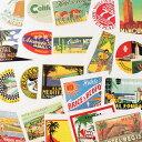 ショッピングスーツケース ステッカー セット スーツケース 旅行カバン トラベルステッカー レトロ 20枚セット ホテル 南国 ラゲージラベル SUNNY CLIMES 【メール便OK】_SC-211691-HYS