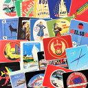 ショッピングWING ステッカー セット スーツケース 旅行カバン トラベルステッカー レトロ 20枚セット 飛行機 航空 ラゲージラベル WINGS OF THE WORLD 【メール便OK】_SC-211820-HYS