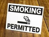 サイン&ラベルミニステッカー(シール、デカール)/MD-051/「喫煙できます」(05P01Mar15)_SC-MD051-SXW