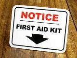 サイン&ラベルミニステッカー(シール、デカール)/EL-014/「注目!救急箱はこちら」_SC-EL014-SXW