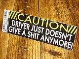 バンパーステッカー(シール、デカール)/CAUTION Driver just..._SC-DDTT903-MON