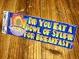 バンパーステッカー(シール、デカール)/Did you eat a bowl... カーステッカー 【メール便OK】_SC-DDTT763-MON