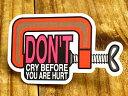 ショッピングデイトナ ステッカー 車 アメリカン おしゃれ バイク ヘルメット かっこいい ことわざ カーステッカー 工具 「怪我をしないうちから泣くな」 【メール便OK】_SC-PS081-SXW